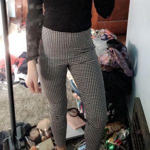 Gingham skinny pants